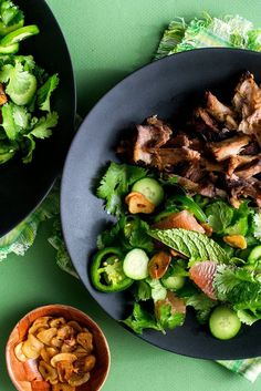 NYT Cooking: In this recipe for a Thai-inspired salad, made for a 6- to 8-quart electric pressure cooker, crispy pork, flavored with fish sauce and lime, is paired with sweet and juicy pomelo (or use grapefruit) and heady fried garlic chips. If you'd rather make this in a slow cooker, you can