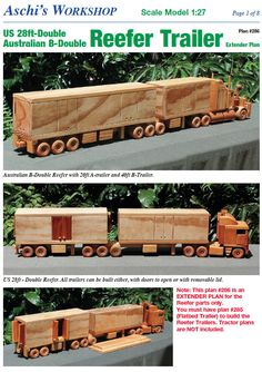 The real McCoy in Australian trucking. This model has it all: a detailed radiator, gearbox, tail shaft, single seat, even a steering wheel on the right side. Wooden Toy Trucks, Wooden Toys, Extension Plans, Wood Toys Plans, Trailer Plans, Things To Do At Home, Road Train, Cab Over, Woodworking Toys
