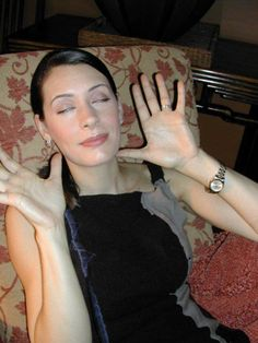Paget Brewster- Wearing a watch on the bottom of her wrist