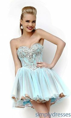 Designer Baby Doll Party Dress by Sherri Hill 21156 at SimplyDresses.com