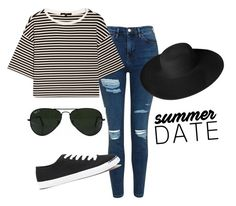 """""""Casual Summer Outfit (date)"""" by vejibra on Polyvore featuring moda, Topshop, TIBI, Forever 21, Ray-Ban y Dorfman Pacific"""