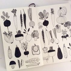 Sketch journal, doodle inspiration, sketchbook inspiration, art drawings, s Doodle Inspiration, Sketchbook Inspiration, Vegetable Illustration, Illustration Art, Food Illustrations, Doodle Drawings, Doodle Art, Vegetable Drawing, Sketch Journal