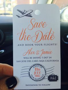 Printable Travel Luggage Tag Save the Date by HydraulicGraphix