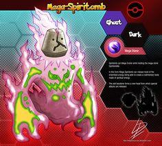 Mega-Spiritomb Pokemon fan evolution concept by xXLightsourceXx