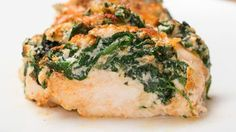 hasselback chicken with spinach and ricotta