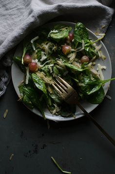 a daily something: Recipe | Winter Salad with Grapes, Pear, & Manchego