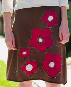 True Love ~ Reverse-Appliqué Skirt from Improv Sewing « Sew,Mama,Sew! Blog