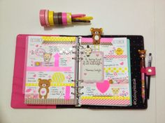Coloursnme: Rilakkuma Inspired week in my Kikki-K Fuchsia Personal Planner