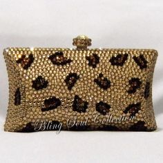 CHEETAH CRYSTAL BAG Cheetah Pillow Clutch Purse by BlingSoul, $139.00
