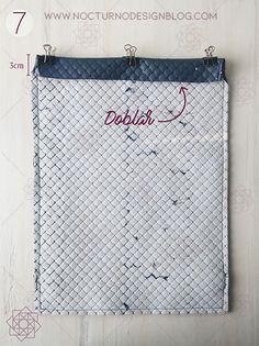 Tutorial de costura: Tula en acolchado. – Nocturno Design Blog Design Blog, Reusable Tote Bags, Diy, Jeans, Vestidos, Sewing Tutorials, Sewing Projects, Straight Stitch, Clothing