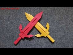 Origami for Everyone – From Beginner to Advanced – DIY Fan Origami Design, Diy Origami, Origami Sword, Origami Simple, Origami Dragon, Origami Butterfly, Origami Folding, Paper Crafts Origami, Oragami