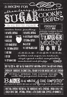 I'm not sure which I like better - the fabulous fonts or the recipe.