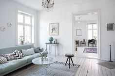 Mint green sofa in a light home | COCO LAPINE DESIGN | Bloglovin'