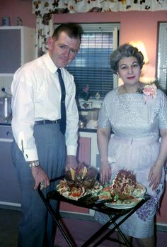 Minnie was rightfully proud of Clark's meticulously-manicured meat.