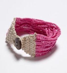 beaded crochet bracelet, lovely