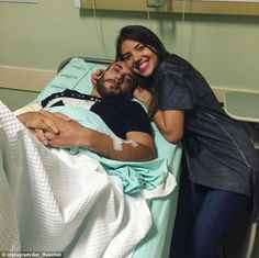 Ruschel's wife Alissen uploaded a picture of herself with her recovering husband on Instagram