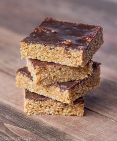 Healthy Reese's Quinoa Crispy Treats via Queen of Quinoa (@alyssarimmer)