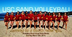USC 2012 beach volleyball team!