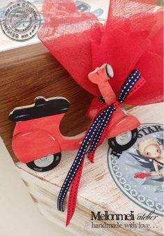 Μπομπονιέρα Ξύλινη Βέσπα Gift Wrapping, Gifts, Gift Wrapping Paper, Presents, Wrapping Gifts, Favors, Gift Packaging, Gift