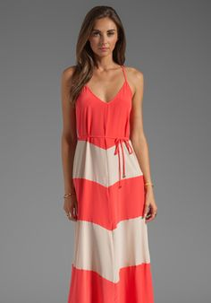 KARINA GRIMALDI Somer Combo Maxi Dress in Red/Nude Combo at Revolve Clothing - Free Shipping!