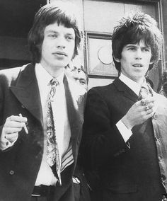 The Glimmer Twins, 1967 ... Mick Jagger and Keith Richards