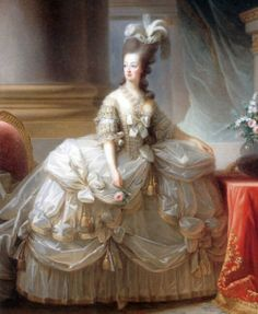 Marie Antoinette became the leader of French fashion towards the end of the 18th century, and started the trademark of extreme extravagance. Many people however, could not afford to keep up with this fashion.