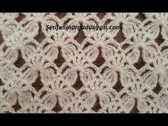 Cap to mit Blattzöpfen und im tunesischen Stich Crotchet Stitches, Crochet Stitches Patterns, Lace Patterns, Knitting Stitches, Crochet Designs, Stitch Patterns, Knitting Patterns, Filet Crochet, Crochet Motifs