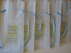 Personalized party favor bags for candy buffet