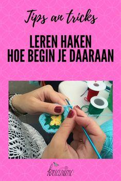 Leren haken: tips, tricks, linken naar gratis patronen voor beginners en vertalingen van Engelse haaktermen naar het Nederlands.