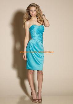 Billig Abendkleider blaue A-Linie online