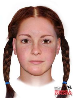 On April a young woman, was found in a ditch along a highway in near Greenlee Road in Newton Township, Troy, Ohio. She had been strangled to death and she had no shoes on and none were fo… Forensic Facial Reconstruction, Girl Cases, Reddish Brown Hair, Amber Alert, Do You Know Me, Cold Case, Freckles, We The People, Dna