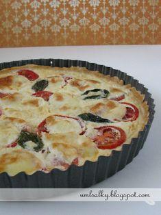 U mlsalky: Rajčatový quiche s cuketou a mozzarellou Quiche, Bon Appetit, Mozzarella, Pizza, Breakfast, Desserts, Food, Morning Coffee, Tailgate Desserts