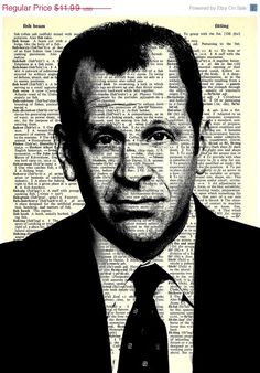 """Toby Flenderson  - The Office Series -8x11"""" Print on Vintage repurposed paper - dictionary print"""