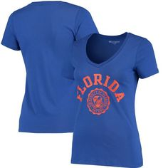 Florida Gators Champion Women's College Seal V-Neck T-Shirt - Royal - $21.99