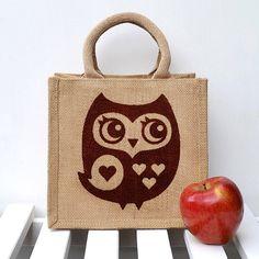 Little Owl Lunch Bag - Folksy