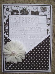 Project Ideas for Provo Craft - Cuttlebug - Embossing Folder - Happy Birthday