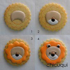 animales de la selva galletas decoradas chicuqui.com Cookies For Kids, Fancy Cookies, Iced Cookies, Cute Cookies, Royal Icing Cookies, Cupcake Cookies, Sugar Cookies, Cookies Et Biscuits, Cupcakes