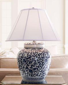 Ralph Lauren Blue and white lamp