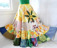 I feel like everyone should have a long, multi-colored, flowy, preferably patchwork hippie skirt that they can dance around in while wearing a daisy chain crown and listening to a humboldt drum circle.