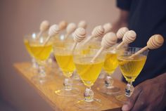 Let the bride know just how sweet you think she is with a honeybee-theme shower. Upon arrival, treat guests to a signature cocktail garnished with a keepsake honey dipper.