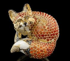 Fox. Russian jewelry house Master Exclusive, collection 'Animal world', Izhevsk, Udmurtia