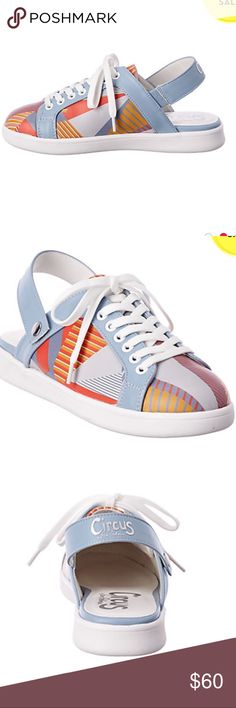 Circus Sam Edelman Murray sneakers Color/material: peach multi; smooth Adjustable ankle strap with buckle closure Lightly padded insole Smooth man-made sole Circus by Sam Edelman Shoes Sneakers