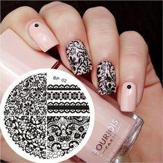 $1.59 Chic Lace Pattern Nail Art Stamp Template Image Plate BORN PRETTY BP02 - BornPrettyStore.com