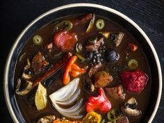 For Bar Tartine in San Francisco, chef Nick Balla created this smoky, earthy soup as a tribute to his Hungarian-America father. Dried...