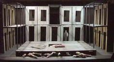 MACBETH set model. Lyric Theatre, Belfast. 2002. Set design by Stuart Marshall.
