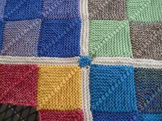 Do you like the homey look of quilts? Why not knit one? But beware because this pattern is addictive! You won't want to stop until you've finished a large square. Here's a spin-off of the popular mitered square sock blankets that many of us are knitting.