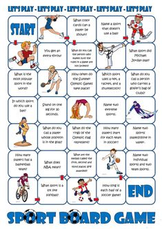 Sport Board Game worksheet - Free ESL printable worksheets made by teachers