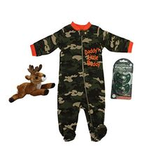Daddys Little Hunting Buddy Camo Feetie Pajama with Real Tree 2 Pack Green Camo Pacifiers and Aurora Flopsie Deer >>> To view further for this item, visit the image link. (This is an affiliate link) Daddys Little, Pacifiers, Baby Boy Outfits, Baby Boys, Pajama, Aurora, Fashion Brands, Camo, Deer