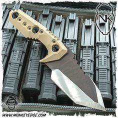 Nocturnal Knives: Yeti Tanto Raw/Satin Finish w/Nocturnal Tan G10 #traditionalknives #knifetrade #customknife #knivesdaily #customblades #customknives #knivesofig #knivesofinstagram #edcknives #knifegasm