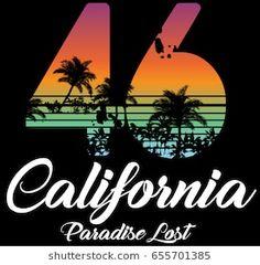 California miami summer t shirt graphic design Venice Beach, Palm Tree Drawing, Graphic Tees, Graphic Design, Skateboard Design, Summer Design, Aesthetic Movies, Summer Tshirts, Illustrations